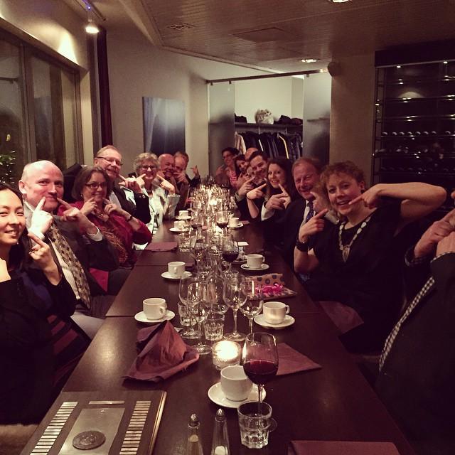 Leende medlemmar och senatorer deltog på JCI Malmös Årsfest